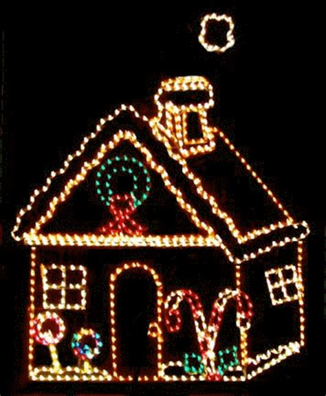gingerbread house lights decorations outdoor lighted gingerbread house
