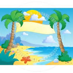 Cartoon Beach Scene Clip Art
