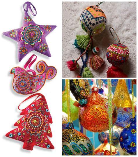 bohemian christmas decoration inspiration colorful
