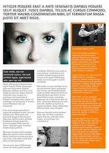 Magazine article template madinbelgrade for Magazine templates for pages
