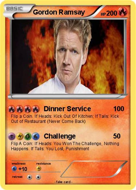 Gordon Ramsay Memes Pokemon - pok 233 mon gordon ramsay 9 9 dinner service my pokemon card