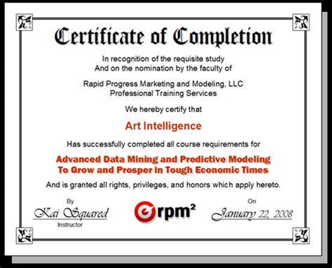 certificate courses predictive analytics data science data mining
