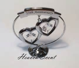 25th wedding anniversary gifts 25th silver wedding anniversary gift ideas with swarovski crystals sp248 ebay