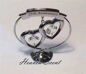 25th silver wedding anniversary gift ideas with swarovski With silver wedding anniversary gift