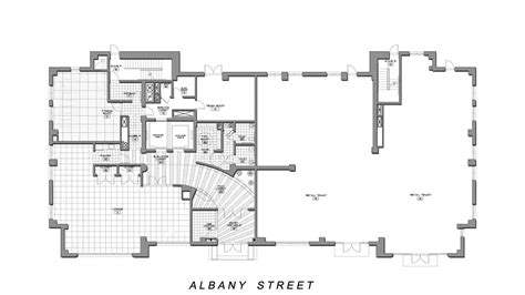 ground floor plan plans residence bumc