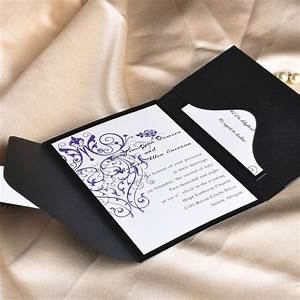 vintage purple chandelier wedding invitation with black With how much are pocket wedding invitations
