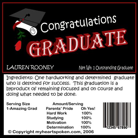 Cover Template College Graduation2015 2016 by Graduation Candy Wrappers Graduation Party Ideas