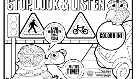 Road Signs Coloring Pages Traffic Simple Fun For Kids