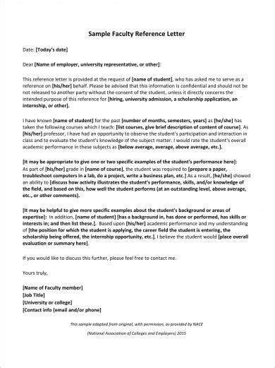academic reference letter examples  examples