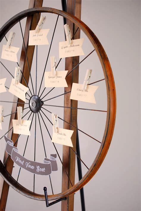 place card display bike rim  card holder