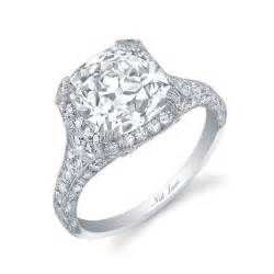neil wedding rings neil 3 5 carat cushion cut engagement ring engagement rings photos brides