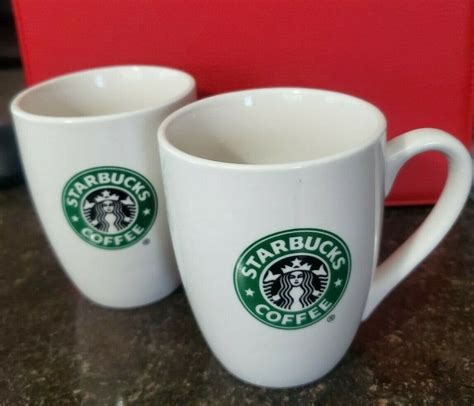 High quality starbucks coffee inspired mugs by independent artists and designers from around the world. Two Starbucks Coffee Mugs 2007 10 Oz Green & Black Mermaid Logo Both Sides - Starbucks