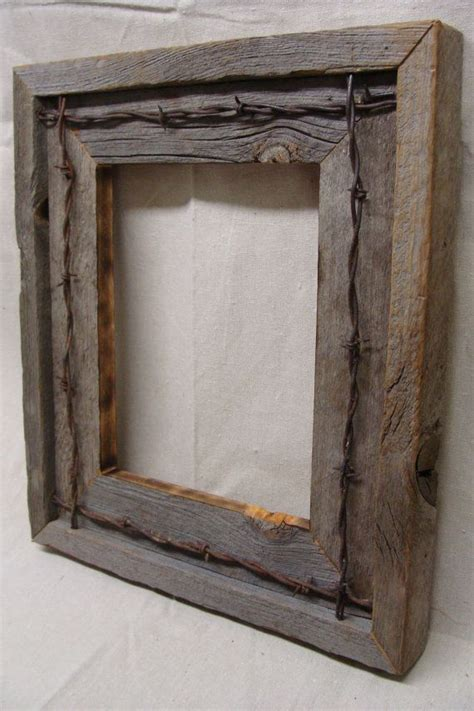 barn wood picture frames repurposed wood picture frames reclaimed wood frame etsy