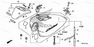 Honda Motorcycle 2010 Oem Parts Diagram For Fuel Tank