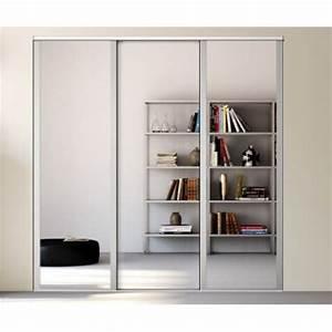 Porte Coulissante Miroir Sur Mesure : kazed 3 portes influence miroir achat en ligne ~ Premium-room.com Idées de Décoration
