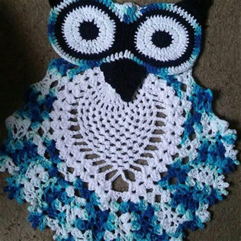 owl bathroom set crochet pattern free crochet owl rug pattern rugs ideas