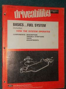 Find 1974 Ford Lincoln Mercury Fuel System Shop Manual
