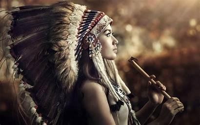Native Wallpapers Headdress Americans Profile Cherokee American