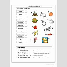 Vocabulary Matching Worksheet  Food Worksheet  Free Esl Printable Worksheets Made By Teachers