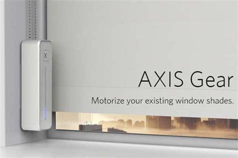 axis gear turns existing window shades  smart window