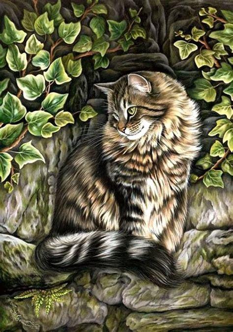 pin  framboise bessler  cats cats cat art animals