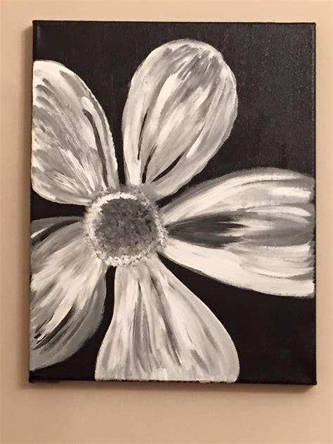acrylic painting  canvas  lisa fontaine flower black