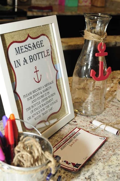 Nauticalocean Baby Shower Party Ideas Messages