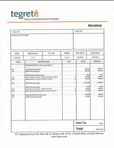 invoice consolidation tegrete With snow removal invoice