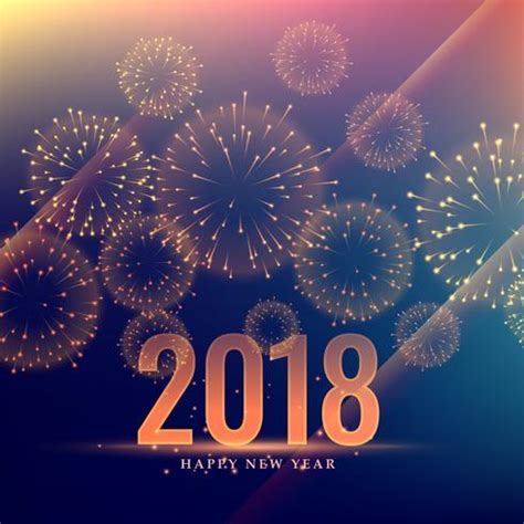 Happy New Year Celebration Background With Fireworks  Download Free Vector Art, Stock Graphics