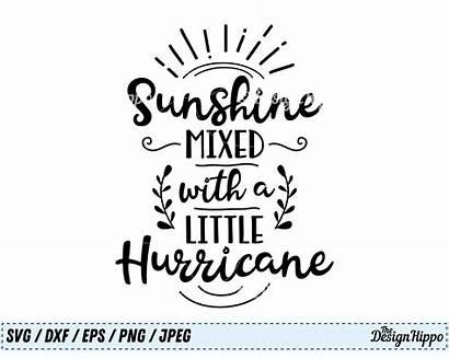 Svg Sunshine Southern Hurricane Mixed Saying Silhouette