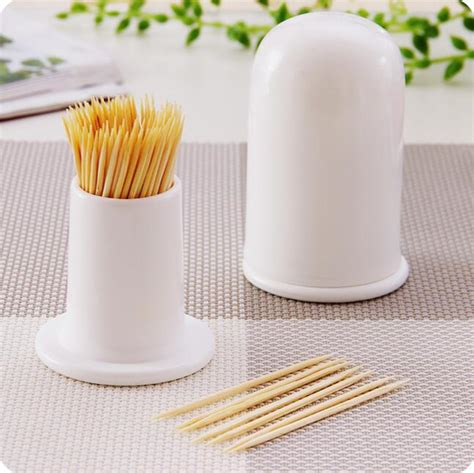 white ceramic toothpick holder household toothpick