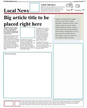 Newspaper Article Template Newspaper Template Microsoft Word New Calendar Template Site