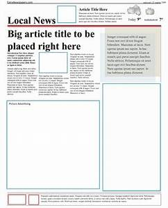 Newspaper Template Microsoft Word | New Calendar Template Site