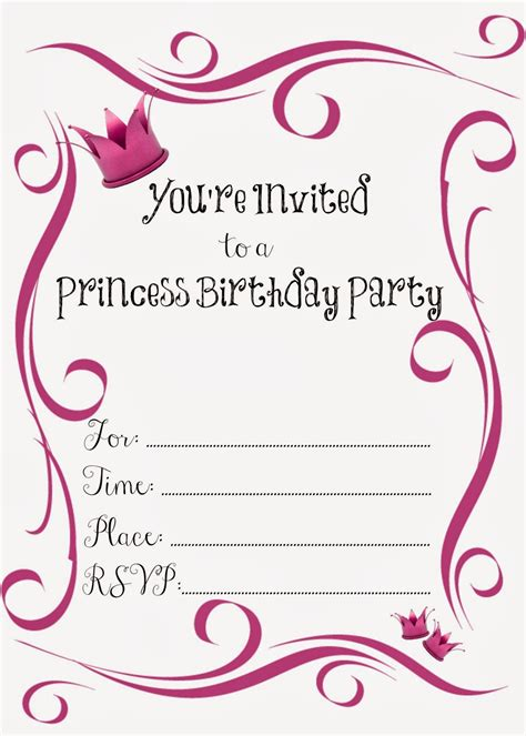 birthday party invitations  girl  printable