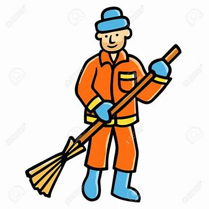 Street Clipart Cleaning Sweeper Cleaner Sweepers Vector