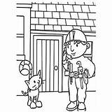 Bob Coloring Builder Pilchard Roley Dizzy Toddler Scarecrow sketch template