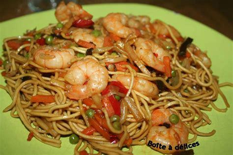 recette pate a nouille nouilles chinoises aux crevettes