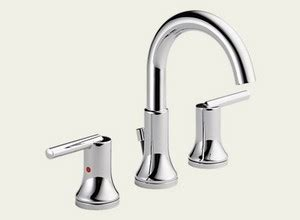 Delta Trinsic Widespread Bath Faucet by Delta Delta Trinsic Widespread Bath Faucet W Metal Pop