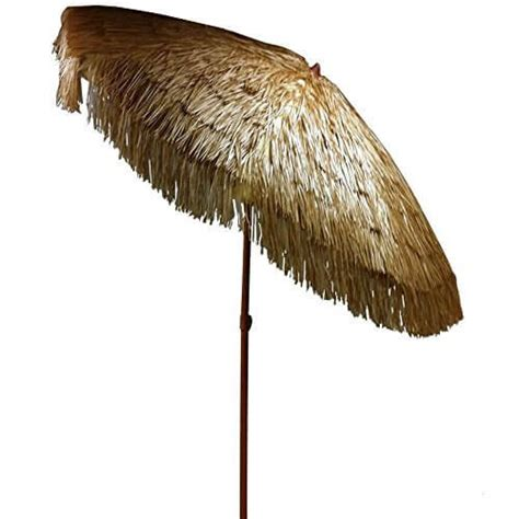 easygo 6 5 ft thatch patio tiki umbrella nifty homestead