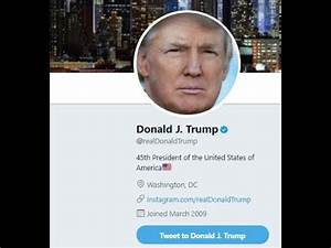 Donald Trump's twitter account deactivated: Social media ...
