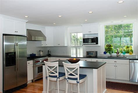 my houzz a summer house charms and welcomes style kitchen boston by
