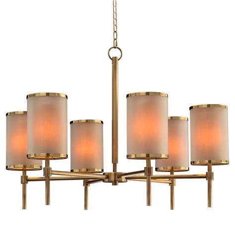 modern chandelier shades dooley modern classic brass drum shade chandelier