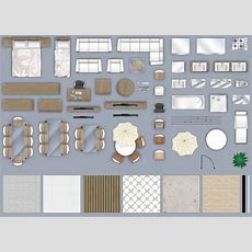 2d Furniture Floorplan Top Down View Psd 3d  Cgtrader