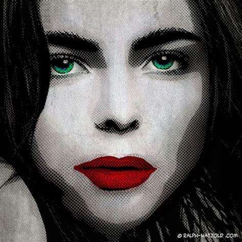 pop art portrait schwarz weiss pop art vom eigenen foto