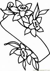 Pages Easter Coloring Lily Banner Lilies Colouring Flower Printable Cartoon Clipart Drawing Holidays Cliparts Spring Coloringpages101 Template sketch template