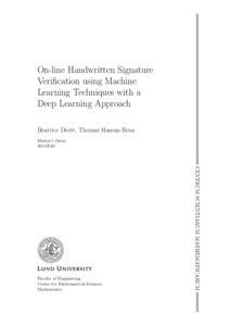 On-line Handwritten Signature Verification using Machine