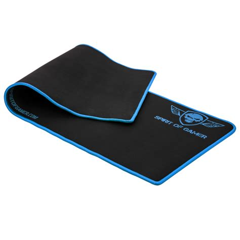 tapis de souris transparent gaming extended mouse pad s o g blue victory