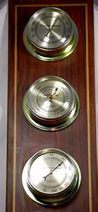 Vintage Barometer Thermometer Hygrometer Verichron Weather