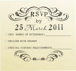 rsvp exles for wedding invitations wedding invitation