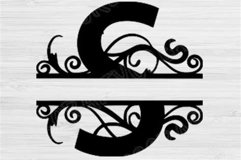 split monogram split letter monogram svg alphabet letter  cut files design bundles